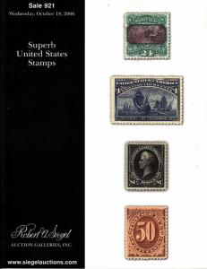 Robert A Siegel Sale #921 Auction Catalog
