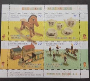 O) 2007 ARGENTINA, TOYS, WOODY HORSE, TEE GAME, TIN TRENCIT, TIN SOLDIERS, MNH