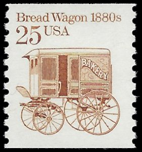 #2136 25c Bread Wagon 1880s  Coil Single 1986 Mint NH