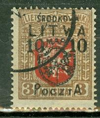 Central Lithuania 22 used CV $1800