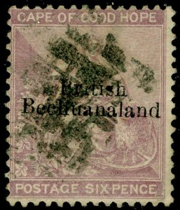 BECHUANALAND SG7, 6d reddish purple, USED. Cat £38.