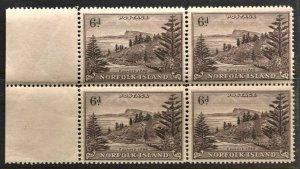 STAMP STATION PERTH Norfolk Island #9 Ball Bay Def. Block of 4 MNH - CV$12.00