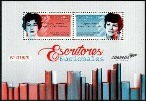 HERRICKSTAMP NEW ISSUES COSTA RICA National Writers 2019 S/S