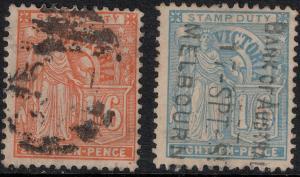 Victoria 1889 SC 167-168 Used Set $155