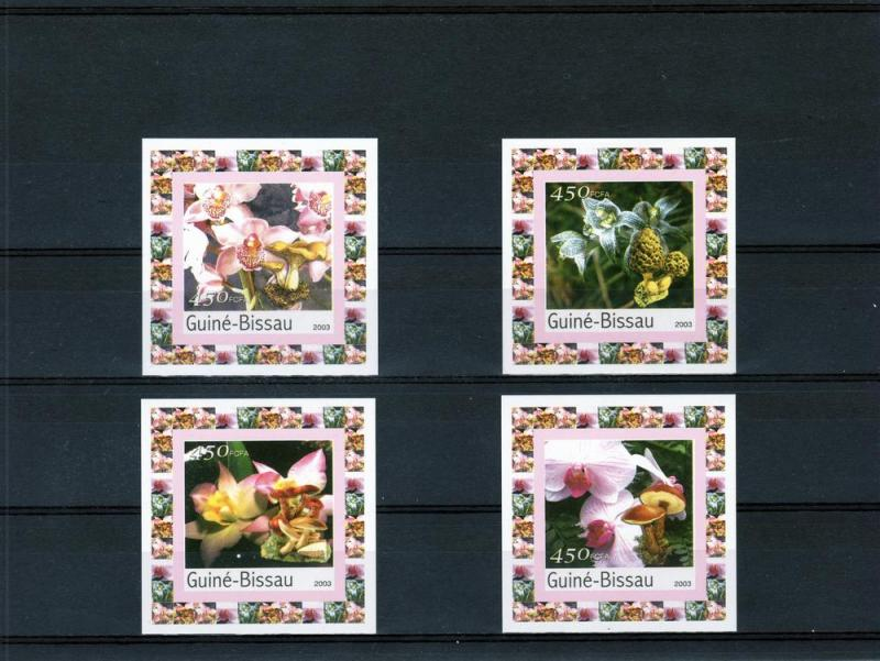 Guinea-Bissau 2003 Orchids-Mushrooms 4 SS MNH VF