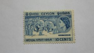 STAMP OF CEYLON USED HINGED SC # 318