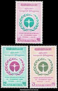 Cambodia Scott 292-294 Mint never hinged.