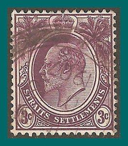Straits Settlements 1904 King Edward, 3c used #110,SG128