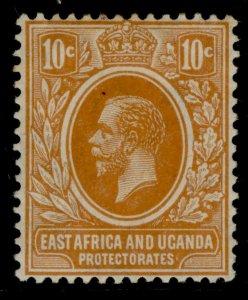 EAST AFRICA and UGANDA GV SG47a, 10c orange, M MINT. Cat £13.