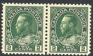 Canada #107i   Mint  pair  O.G. Mint NH   VF