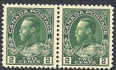 Canada #107i   Mint  pair  O.G. Mint NH   VF