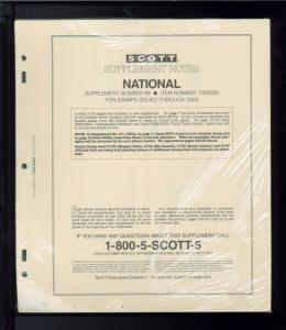 2000 Scott National Stamp Collection Album Supplement Pages Item #100S000