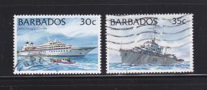 Barbados 875-876 U Ships