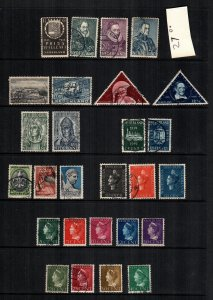 Netherlands  mint hinged and used lot of 27 cat $ 27.00