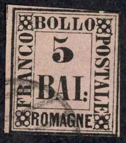 Italy Romagna Sc# 6 Used (a) 1859 5b Definitives