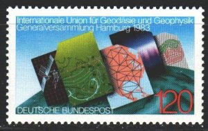 Germany. 1983. 1187. Meteorology, cartography, satellite. MNH.
