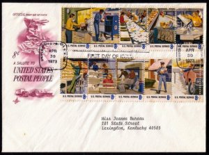 US Scott #1498b FDC Tagging Omitted ErrorNo Phosphor Band/All Stamps CV $250