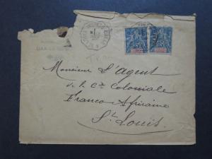 Senegal 1895 Cover w/ Creasing & Top Damage - Z9273