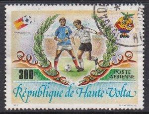 Burkina Faso (Upper Volta) #C275 F-VF postally used World Soccer Cup