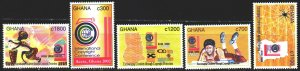 Ghana. 2002. 3401-5. Copyright Conference Spider. MNH.