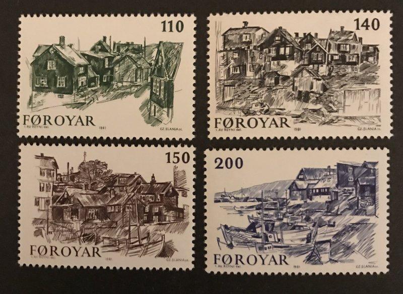 Faroe Islands 1981 #59-62, MNH, CV $1.90