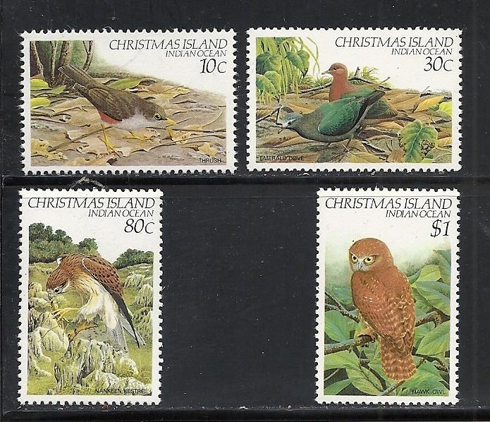 Christmas Island #122, 124, 129-30 mnh Scott cv $4.35 Birds