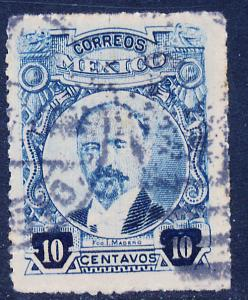 MEXICO 614a, 10cents ROULETTED, USED. (349)