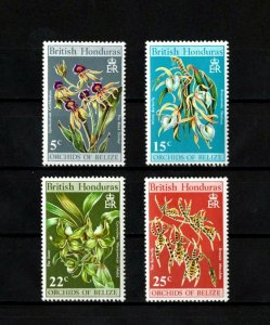 BRITISH HONDURAS - 1970 - FLOWERS - ORCHIDS OF BELIZE - 4 X MINT - MNH SET!
