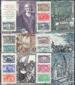 1992 Italy Voyages of Columbus S/S complete MNH set Sc#1883 / 1888 CV $28.25