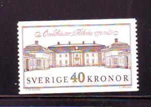 Sweden Sc 1841 1990 Ovedskloster Palace stamp mint NH
