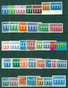 EUROPA Worldwide 1984 sets, 35 diff countries, Complete, og, NH, Scott $114.00