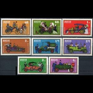 HUNGARY 1970 - Scott# C296-303 Cars Set of 8 NH