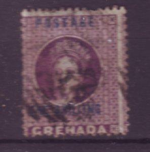 J21916 Jlstamps 1875-81 grenada used #11 queen ovpt