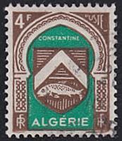 Algeria # 219 used ~ 4fr Arms of Constantine