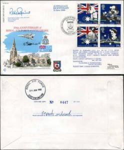 RFDC64b Australian Bicentenary Signed by Grp Capt. P.T. Squire