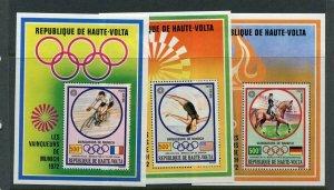 Burkina Faso #124-126 Olympics Sheets (Mint Never Hinged)