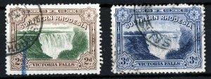 SOUTHERN RHODESIA King George V 1932 Victoria Falls Set SG 29 & SG 30 VFU
