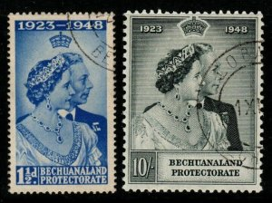 BECHUANALAND SG136/7 1948 SILVER WEDDING FINE USED