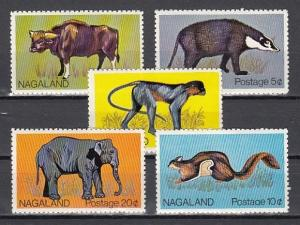Nagaland, 1978 India Local. Fauna issue. Elephant.