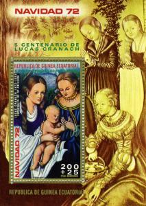 Equatorial Guinea Lucas Cranach Paintings s/s Perforated mnh.vf