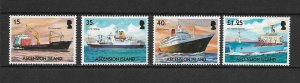 ASCENSION ISLAND - 2004 - MERCHANT SHIPS - SCOTT 857 TO 860 - MNH