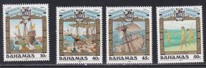 Bahamas # 688-691, Discovery of America, NH, 1/2 Cat.