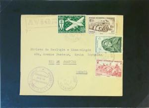 Senegal 1954 Airmail Cover to Brasil / Gov Handstamp - Z3156