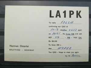 4183 QSL Card Brattvag Norway 1968