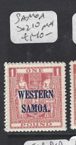SAMOA (P0310B)  OVPT ON ARMS NZ L1  SG 210   MNH