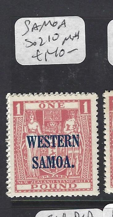 SAMOA (P0310B)  OVPT ON ARMS NZ L1  SG 210   MNH