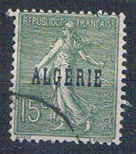 Algeria 9 Used France overprint 1924 (A0393)