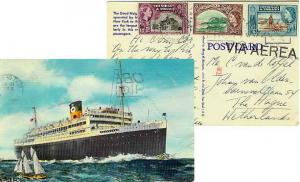 Trinidad 3c QEII Mt. Irvine Bay, Tobago, 6c QEII Discovery of Lake Asphalt an...