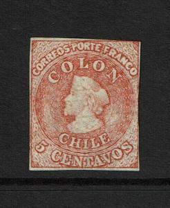 Chile SC# 14 Mint No Gum / Good Margins  - S7334