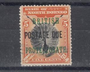 North Borneo 1905 5c Postage Due SGD41 MLH J4992